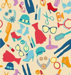 seamless pattern fashion and clothes accessories vector image