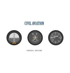 Set of aircraft instruments vector image