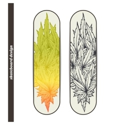 Skateboard design two vector