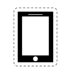 smartphone device mobile technology pictogram vector image