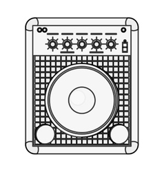 stereo speaker icon vector image vector image
