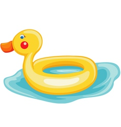 Swim ring duck vector image vector image