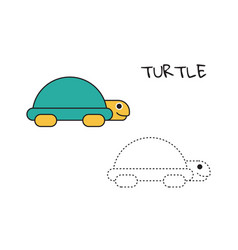 turtle coloring book vector image