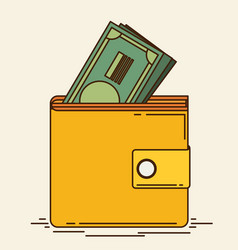 Wallet icon flat vector