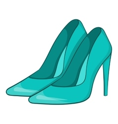 Women blue shoes icon cartoon style vector image