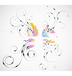 Curled Design Elements vector image