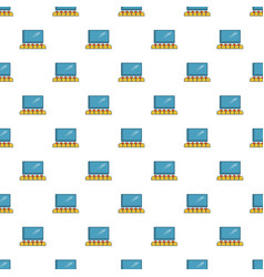 Cinema auditorium with screen and seats pattern vector