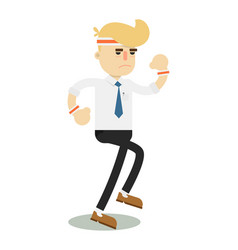 Running businessman isolated icon vector