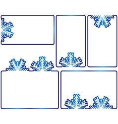 Winter text boxes vector