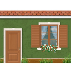 Green wall door and window380400 vector