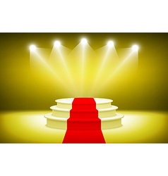 3d Illuminated stage podium for award ceremony vector image