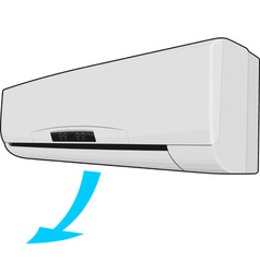 Realistic air conditioner vector