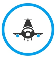 Cargo plane rounded icon vector