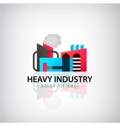 Heavy industry building logo icon vector