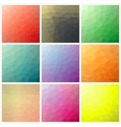 Flow of spectrum effect polygonal background vector