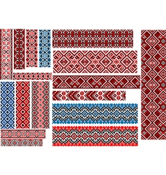 Ethnic patterns for embroidery stitch vector