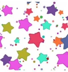 Abstract pattern colorful stars vector