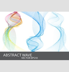 Abstract Beautiful Wave vector image vector image