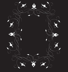 Abstract romantic frame vector