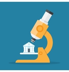 Bank under a microscope vector image vector image