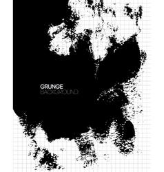 Black grunge textured background painted by brush vector image vector image