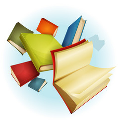 books collection background vector image vector image