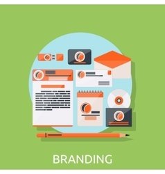 Branding Icons Concept vector image vector image