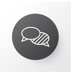 Conversation icon symbol premium quality isolated vector