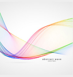 elegant rainbow color abstract wave background vector image