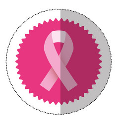 Emblem breast cancer ribbon image vector