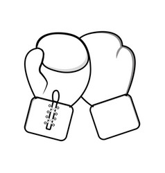 Figure boxing gloves icon vector