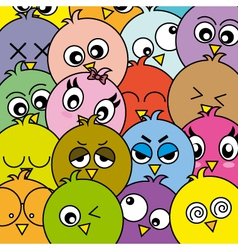 Funny birds card vector image vector image