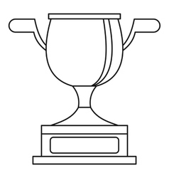 Gold cup icon outline style vector
