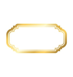 Gold frame beautiful simple golden white design vector