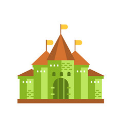 green fairytale royal castle or palace building vector image