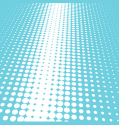 halftone blue and white background vector image vector image