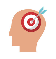 Human head target marketing idea vector