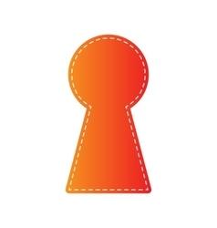 Keyhole sign orange applique vector