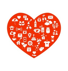 Love mix icons icons vector