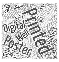 Make Your Business Interesting Through Posters vector image