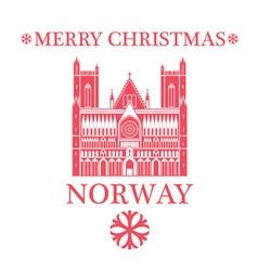 Merry christmas norway vector