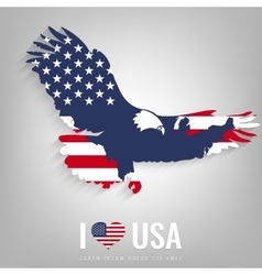 National USA symbol eagle with an official flag vector image