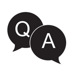 Questions amp answers speech bubbles flat icon vector