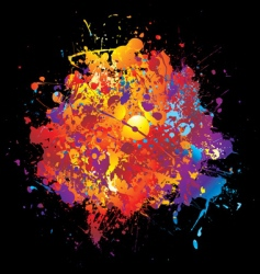 rainbow spray vector image