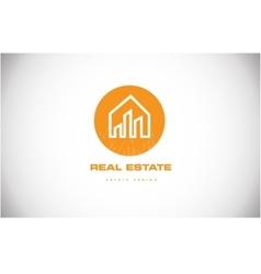 Real estate house home logo icon design vector image