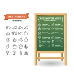 Restaurant menu board vector