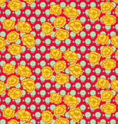 retro and vintage flower Pattern vector image