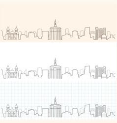 San jose hand drawn skyline vector