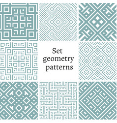 set of ornamental patterns for backgrounds vector image vector image