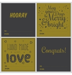 Square christmas and new year greeting cards vector
